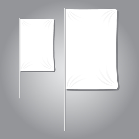 White textile banners with folds template set vector Zdjęcie Seryjne - 125339537