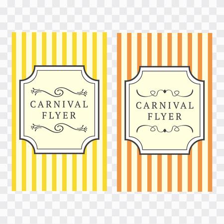 Carnival Flyer Template. Carnival vintage sign. Carnival vector bulletin