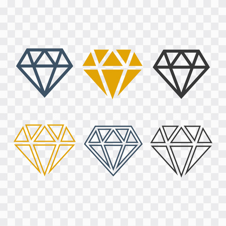 Diamond icons set. Diamond sign set vector Ilustração