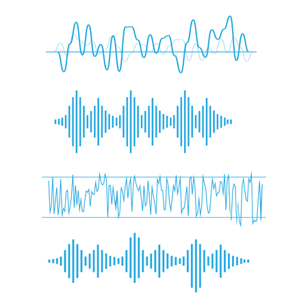 Vector sound. Soundwave musical icons. Radio wave vector