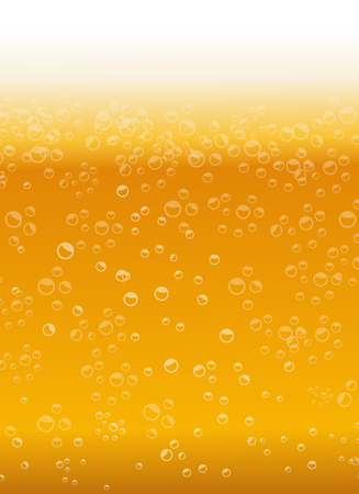 Beer texture with bubbles and foam Ilustrace