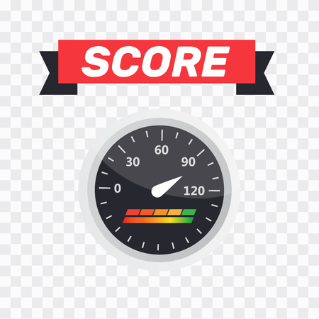 Gauge icon. Credit score indicators and gauges vector set. Score vector icon