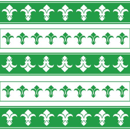 Royal horizontal borders. French borders abstract vector. lily border