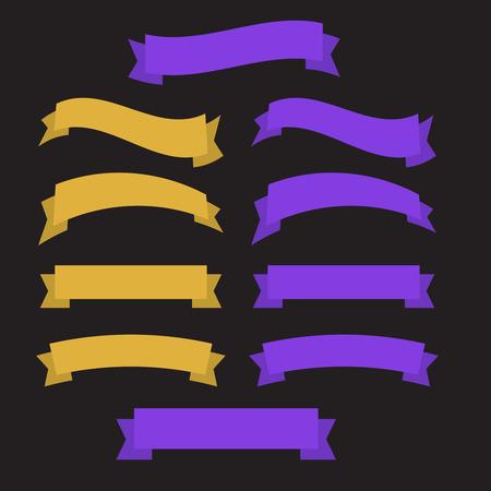 Vector ribbons set isolated. Banner ribbon vector set Vettoriali