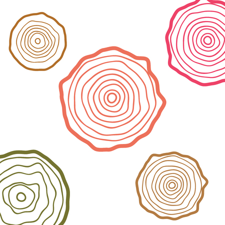 Annual tree growth rings logo. Abstract circle tree background
