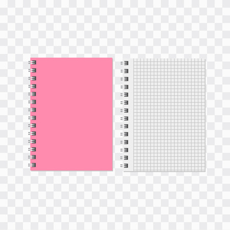 Blank realistic notebook. Diary notepad, paper page and notebook 向量圖像