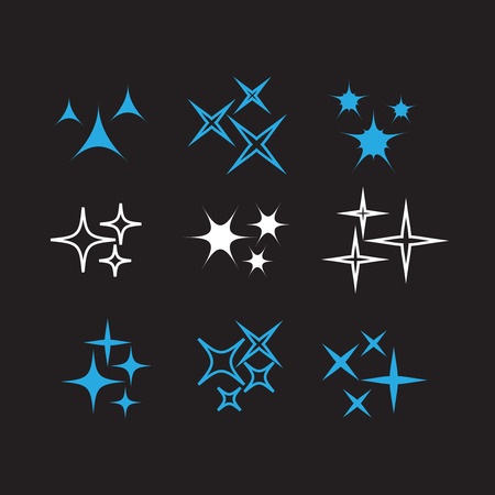 Bright firework, decoration twinkle, shiny flash. Sparkle lights vector