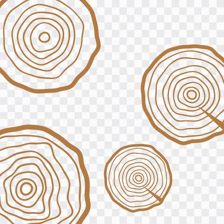 Vektorbaumringe. Holzbeschaffenheitsvektor. Abstrakter Kreisbaumhintergrund