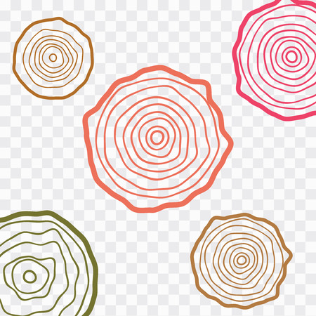 Annual tree growth rings. Abstract circle tree background