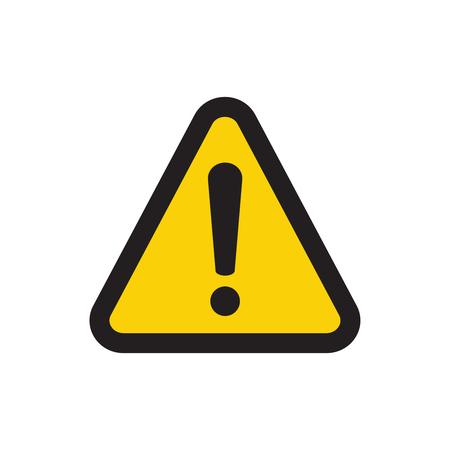 Warning attention sign. Danger sign design. Caution error icon