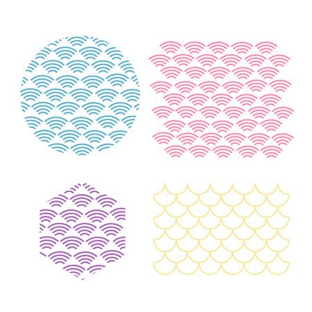 Japanese traditional pattern. Wave pattern. Sea japan pattern vector