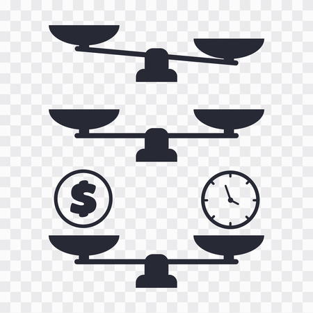 Scale vector icon. balance vector illustration