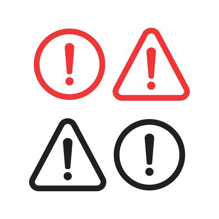 Danger sign design. Caution error icon.