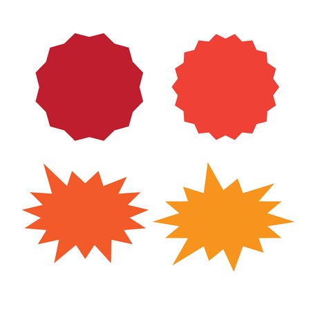 Set of vector starburst, sunburst badges. Starburst isolated icons set Ilustrace