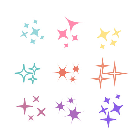 Glowing light effect star. Sparkle lights vector 向量圖像