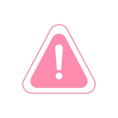 Warning icon. The attention icon. Danger symbol. Alert icon Illustration