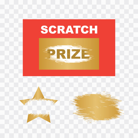 Template cards with scratch and win letters. Lottery scratch and win game card background.