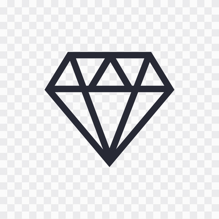 diamond icon. Diamond line icon. Diamond outline vector sign