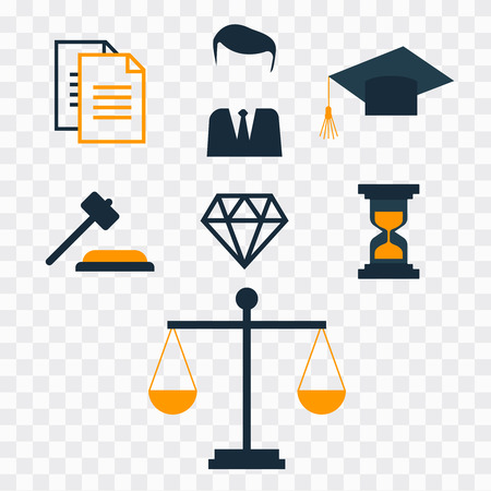 Lawyer concept. Lawyer icons in flat style. Lawyer sign and symbol vector Ilustrace