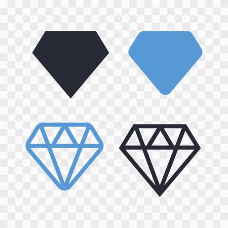Diamond icons set. Diamond sign set. Brilliant vector icon