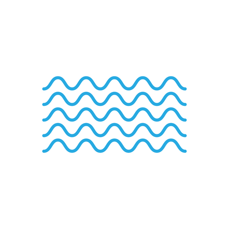 Waves outline icon. set of zigzag and wave borders