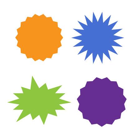 Different starburst vector. Starburst isolated icons set Иллюстрация