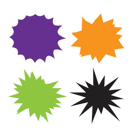 Set of vector starburst, sunburst badges. Starburst isolated icons set 矢量图像