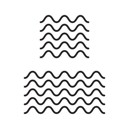 Icon wave vector line icons. set of zigzag and wave borders Illustration