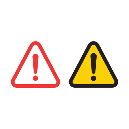 The attention icon. Danger symbol. Alert icon Illustration
