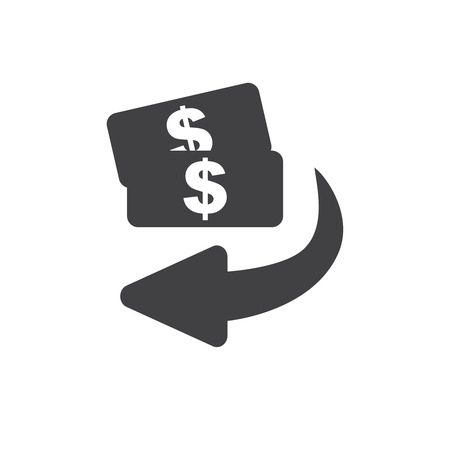 Cashback icon from Business. Flip over or turn arrow. Reverse sign