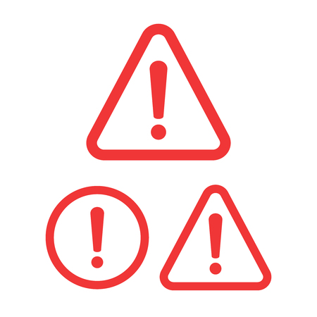 The attention icon. Danger symbol. Alert icon Ilustración de vector