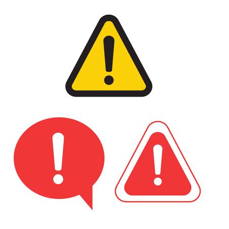 Warning attention sign. Danger sign design. Caution error icon Vektoros illusztráció