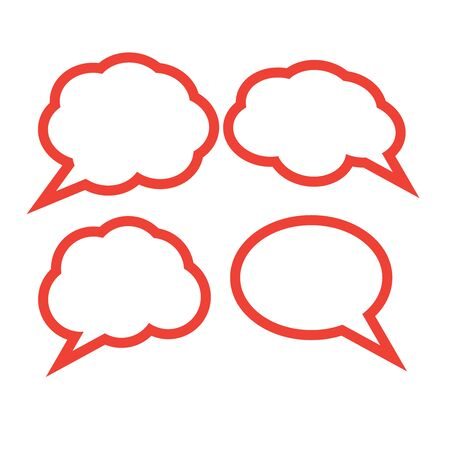 Blank empty white speech bubbles. Cloud bubble speech for communication 일러스트
