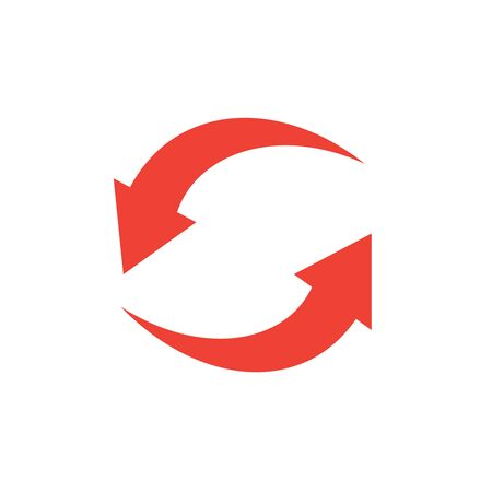 Rotation arrows icon. Circled cursor web recycling progress buttons Banque d'images - 124975547