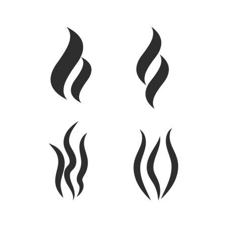 Smoke vector icon. Smoke shape vector sign Illustration
