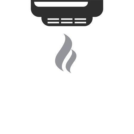 Smoke alarm system vector symbol. Smoke detector icon. Fire detector