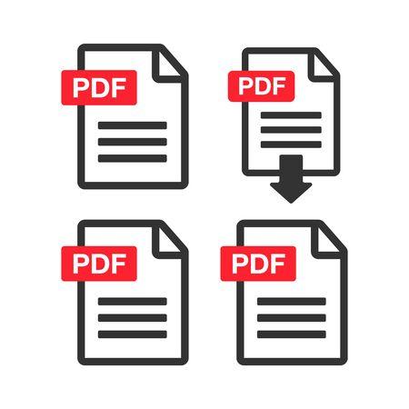 PDF Icon paper file. File Icons. Document icon set