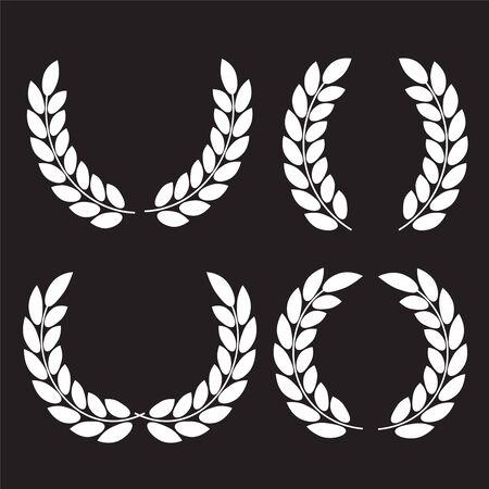 Set of laurel wreaths. Icon laurel wreat Vectores