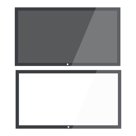 Realistic TV screen. Modern lcd wall panel