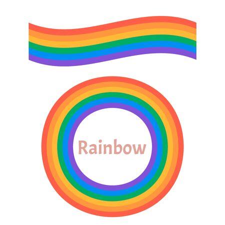Set of beautiful rainbow illustration. Rainbow 3d icon   Illustration