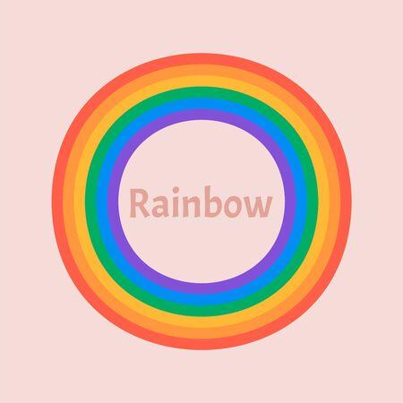 Set of beautiful rainbow illustration. Rainbow 3d icon 写真素材 - 127936177