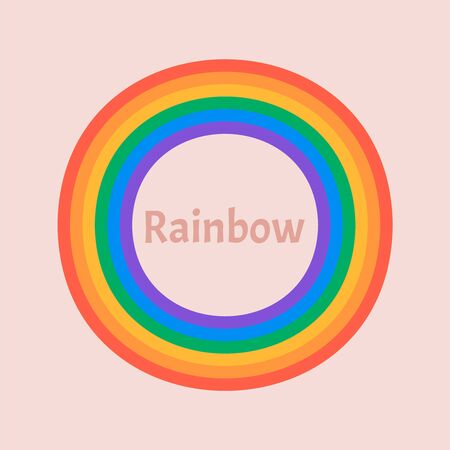 Set of beautiful rainbow illustration. Rainbow 3d icon Illustration
