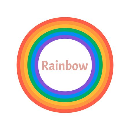 Colorful rainbow isolated on white background. Rainbow 3d icon  Ilustração