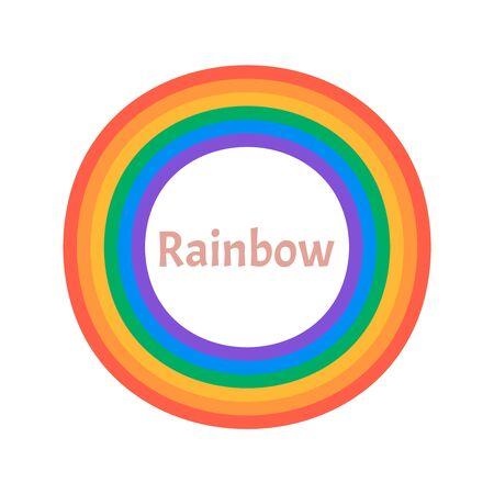 Colorful rainbow isolated on white background. Rainbow 3d icon  Illustration