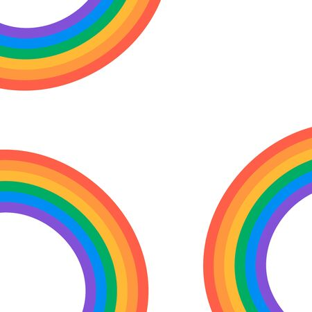 Set of beautiful rainbow illustration. Rainbow vector elements