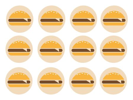 Burger icon vector. Fast food icon. Burger vector silhouette