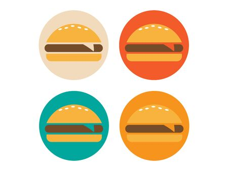 New Burger vector icon. Fast food icon. Burger vector silhouette  イラスト・ベクター素材