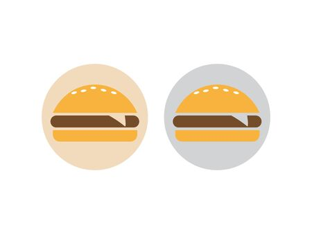 Fast food burger icon. Burger icon vector. Burger sign or symbol  イラスト・ベクター素材