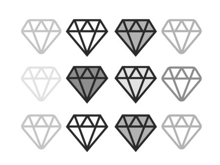 Diamond flat vector icon. Brilliant vector icon