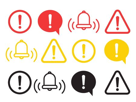 Warning Icon Vector. The attention icon. Danger symbol. Alert icon  イラスト・ベクター素材